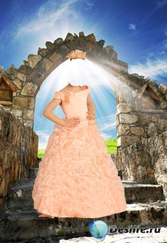 Костюм для фотошопа – Маленькая принцесса в розовом платье