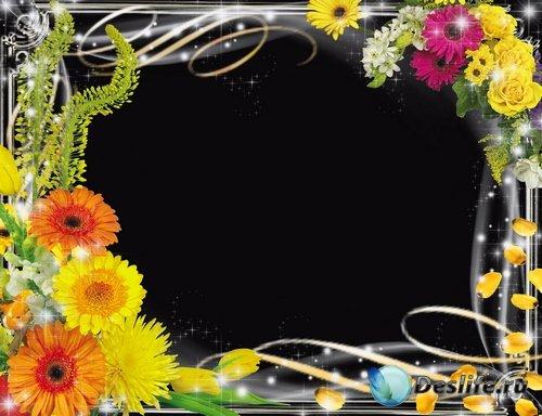 Рамочки для оформления фото - Магия цветов