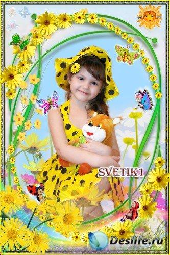 Детская рамка для фото - В желтых ромашках