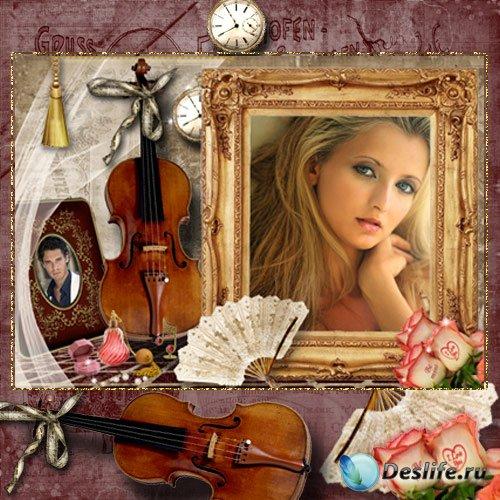 Рамка для фото - Скрипка