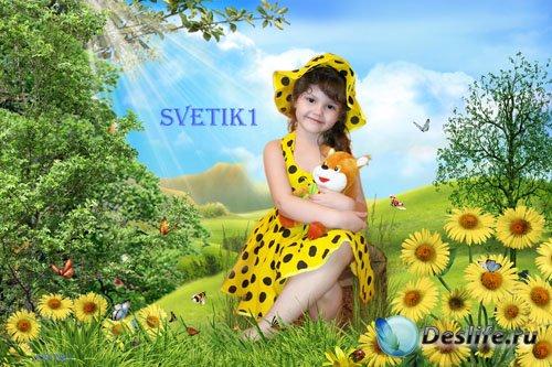 Детский костюм для фото - На цветочной полянке