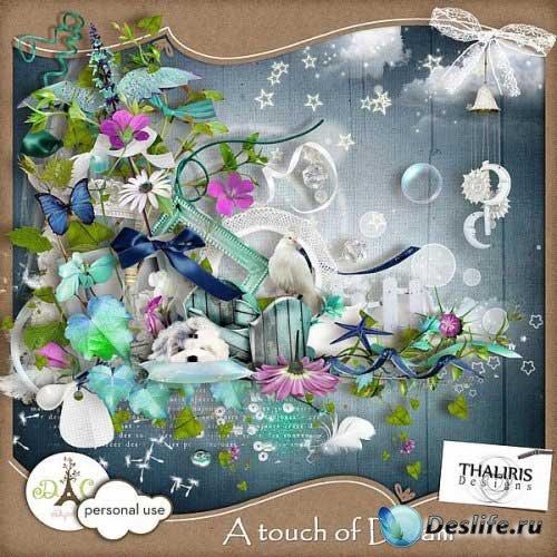Детский скрап-набор - Воздушная мечта. Scrap - A touch of Dream