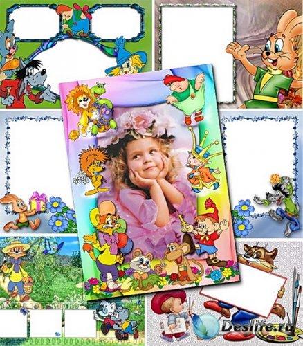 Детские рамки с героями советских мультфильмов