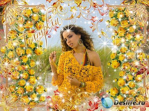 Рамочка для фото – Желтые розы