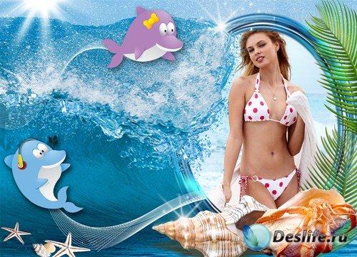 Рамка для фото - Дельфинчики