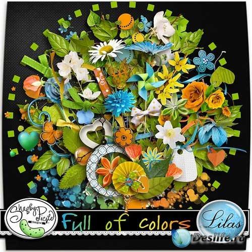 Цветочный скрап-набор - Заполненный цветами. Scrap - Full Of Colors
