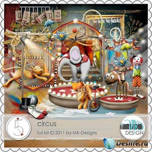 Детский скрап-набор - Цирк. Scrap - Circus