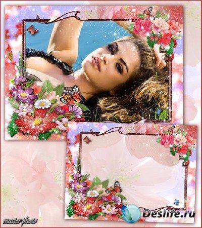 Цветочная рамка для фотошопа – Тихая поляна