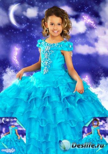Многослойный детский psd костюм - Маленькая принцесса в пышном платье цвета ...
