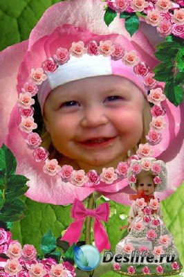 Рамка Маленькая принцесса цветов