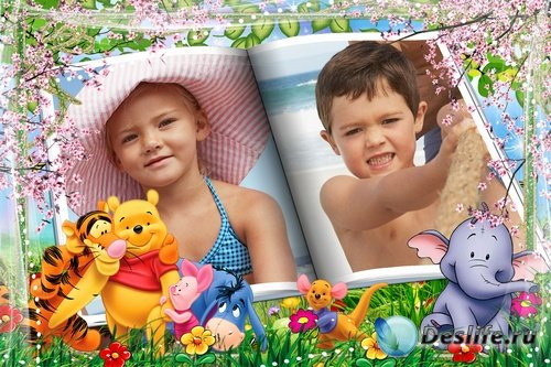 Яркие детские фоторамочки с Винни