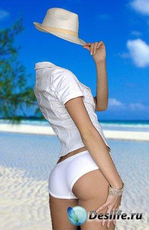 Костюм для фотошоп – В белой шляпе