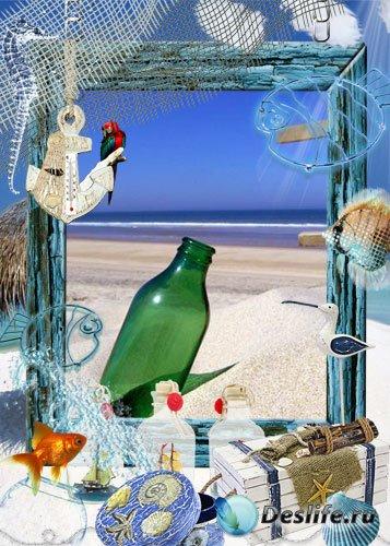 Рамка для Photoshop - На берегу моря