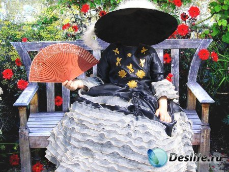 Костюм для фотошоп – Девочка на скамейке