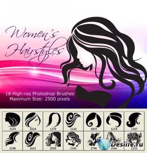 Кисти для фотошопа - Женские волосы