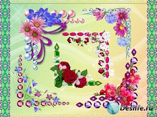 Клипарт - Цветочные уголки
