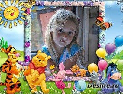 Рамочки для оформления детских фото с Винни (часть 2 )