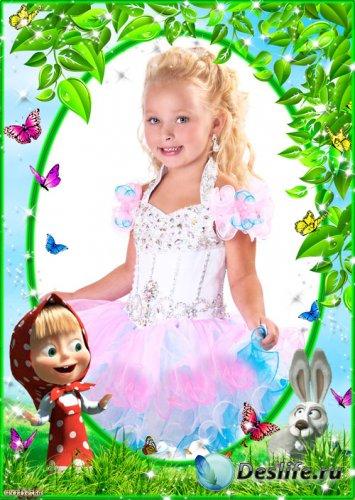 Детская рамка - Маша в замечательном красном платьице