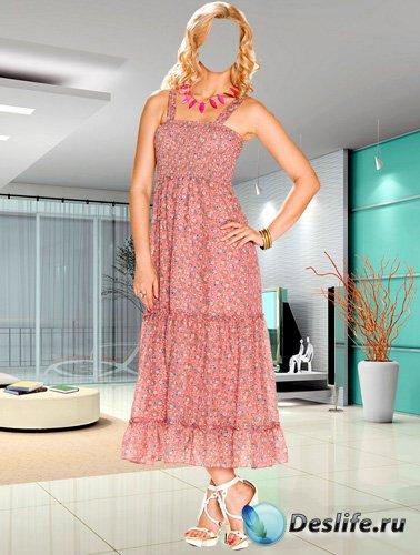 Костюм для фотошопа – Женщина в летнем платье