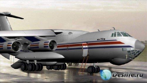 3d модель самолета ИЛ-76ТД