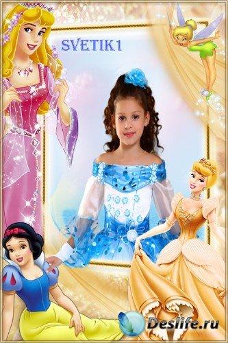 Детская рамка для фото - Принцессы