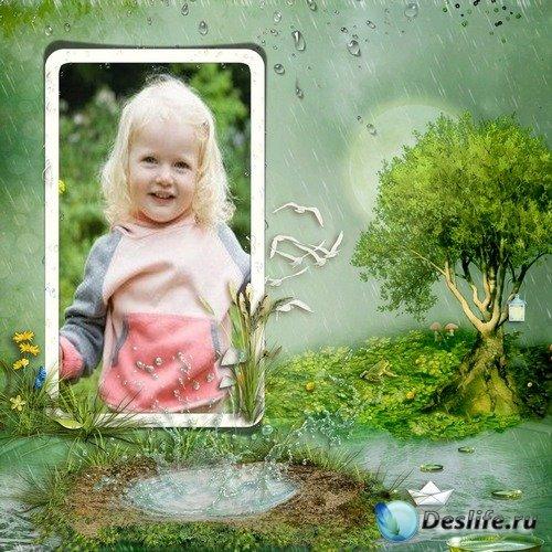 Детская фоторамка - Летний дождик