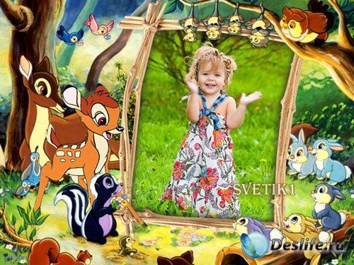 Детская рамка для фото - Бэмби