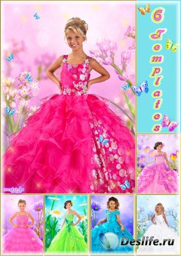Многослойный детский psd костюм - Самые шикарные бальные платья для девочки