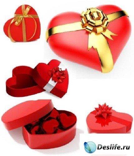 Сердце в виде коробоки