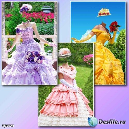 Женские костюмы для фотомонтажа – Летние наряды