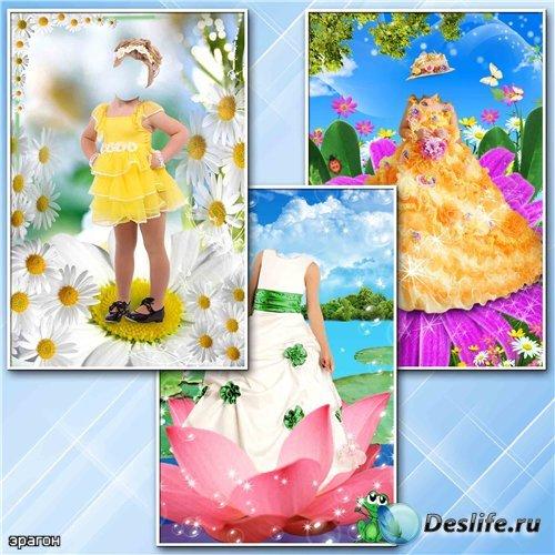 Детские костюмы для фотошопа – Девочки в цветках