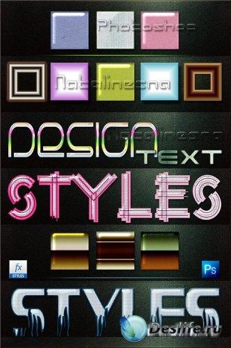 Текстовые стили Дизайн для Photoshop 3 / Design text styles for Photoshop 3