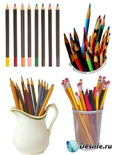 Фотосток: канцелярия - цветные карандаши (часть вторая)