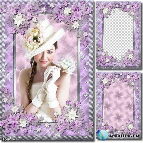 Женская рамка для фото – Цветочный шарм