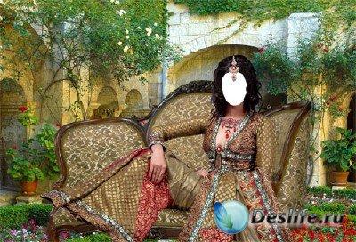 Костюм для фотошопа - Восточная красавица в саду