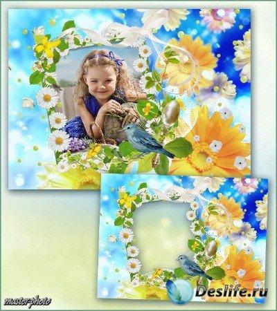 Летняя рамка для фотошопа – Мой цветочный рай