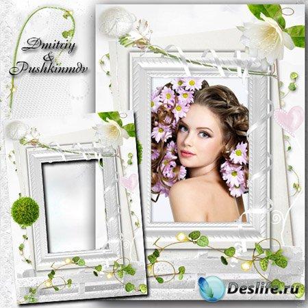Многослойная рамка для фото - Нежность цветов