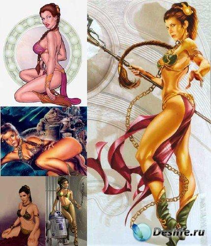 Большая подборка изображений принцессы Леи Органы из фильма