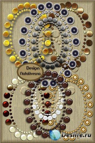 Овальные стильные  рамки – вырезы / Oval stylish frames– cuts