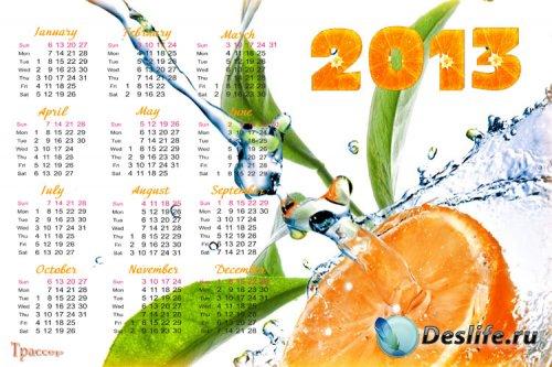 Календарь на 2013 и 2014 года - Апельсиновый рай