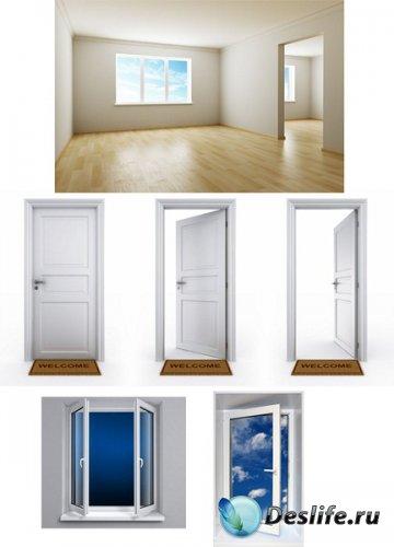 Качественная подборка клипарта дверей и окон