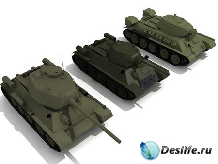3d модели советских танков времён ВОВ