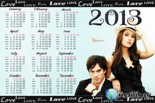 Календарь 2013-2014 год - The Vampire Diaries (Дневники вампира)