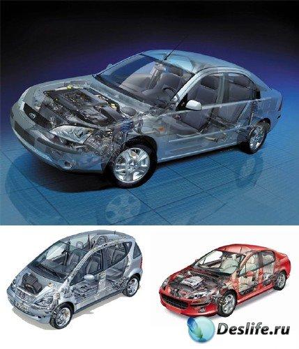 Фотосток: Автомобили с открытыми внутренностями
