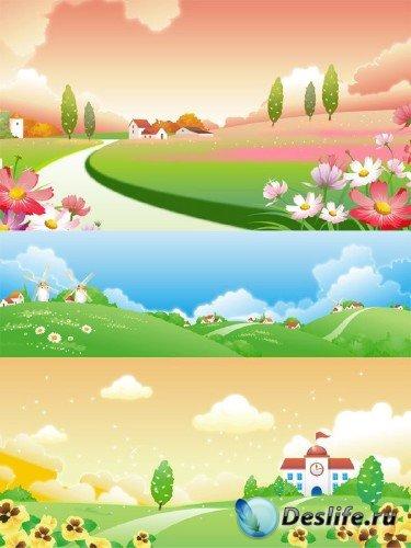 Красивые пейзажи в векторе
