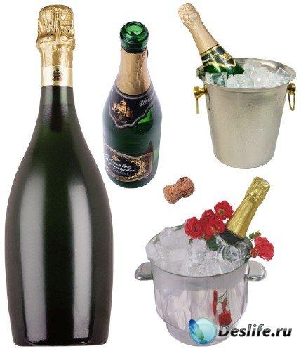 Фотосток:  шампанское и ведерко со льдом