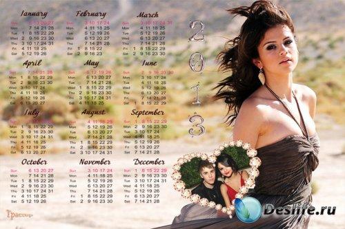 Календарь на 2013 и 2014 года - Селена Гомес (Selena Gomez) и Джастин Бибер ...