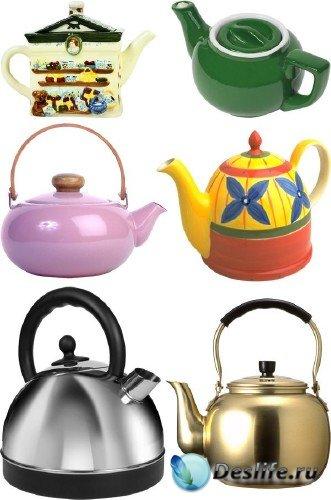 Фотосток: посуда - чайник, кофейник, заварник