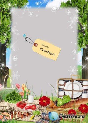 Рамка для отдыхающих на природе – Пикник для всей семьи