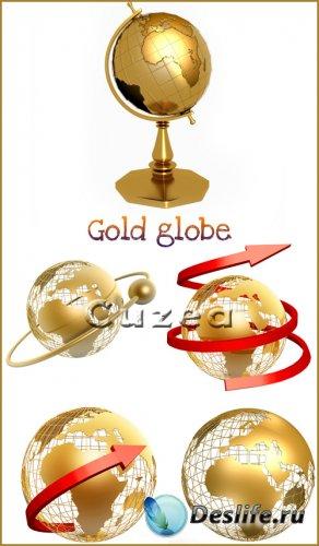 Золотой глобус - растровый клипарт